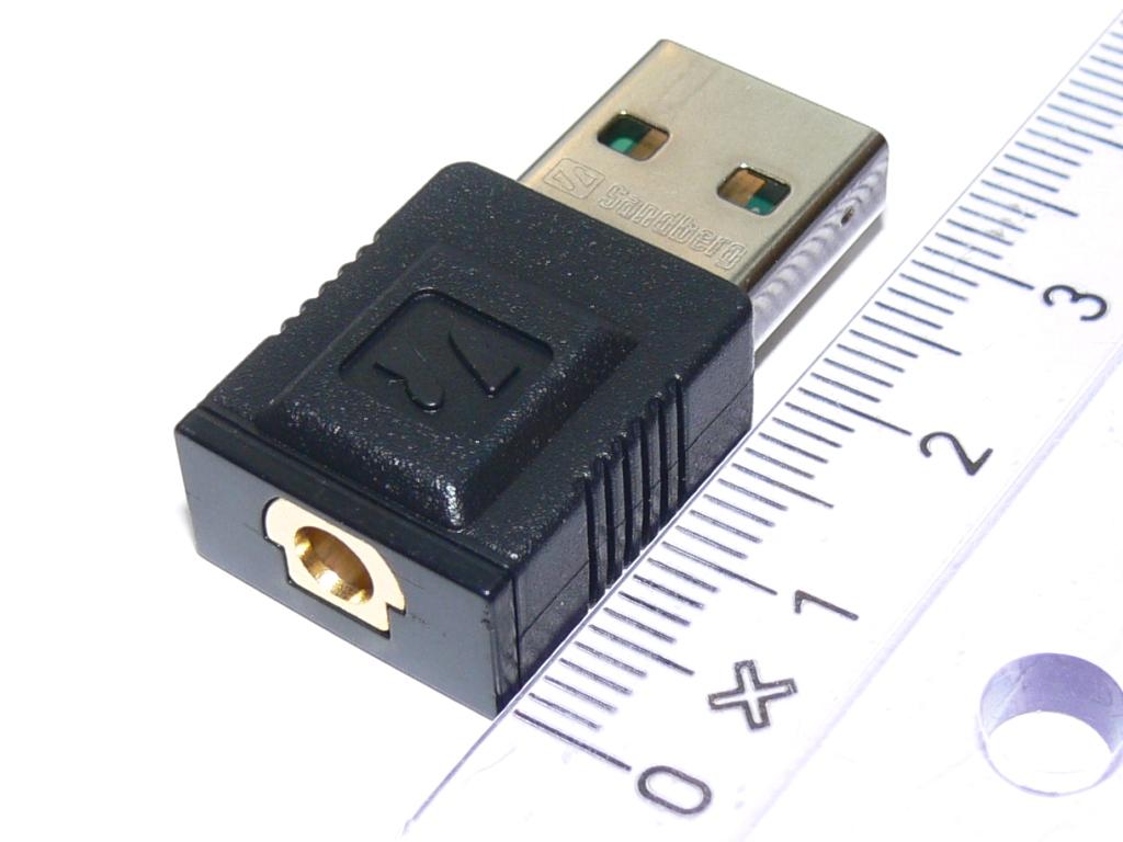 SANDBERG Mini DVB-T Dongle MPEG4/DAB/FM-Radio USB mottaker (133-59)